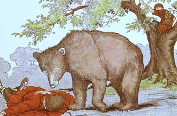 两个朋友和一只熊