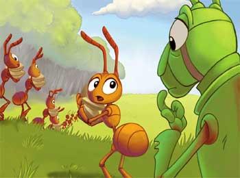 蚂蚁和蚱蜢的故事
