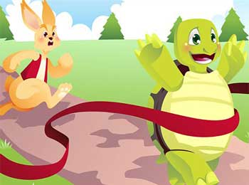野兔和乌龟