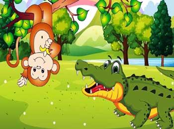 猴子与鳄鱼