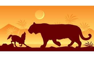 狼和愚蠢的老虎