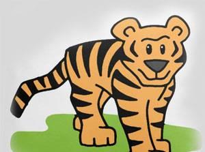 老虎如何有条纹的故事