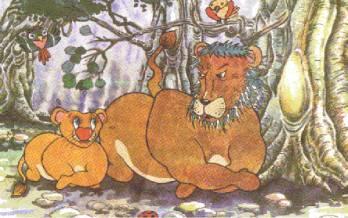 小狮子学咆哮