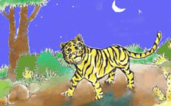 老虎和柿饼