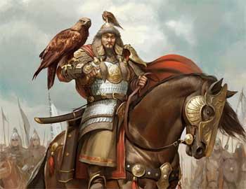成吉思汗和他的猎鹰